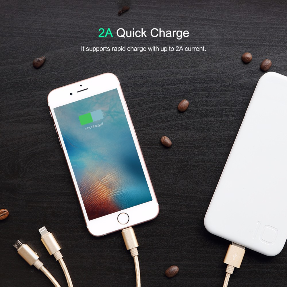 usb charger 3 in 1